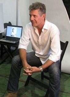 Bourdain in NYC, Sept. 14, 2008