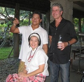 Tony with Mr. and Mrs. Claude Tayag (Photo - Jumbo Tayag)